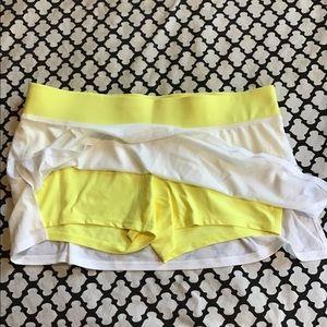 Nike Skirts - Nike yellow and white tennis skirt w shorties 🤩